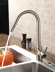 Nickel Brushed Finish Pull Down Kitchen Faucet