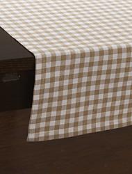 Country Style guingan à motifs Chemins de table