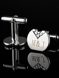 Personalized Irregular Silver Cufflinks