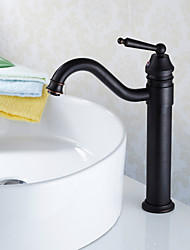 Traditional Style Oil-rubbed Bronze Finish Countertop Bathroom Sink Faucet
