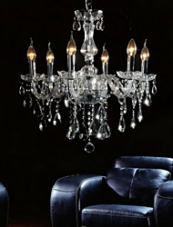 Elegant Crytal Chandelier with 6 Lights