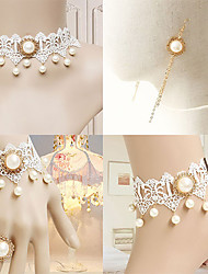 Bling Princess White Lace Classic Lolita Accessories Set