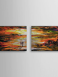 Hand Painted Oil Painting Landscape with Stretched Frame Set of 2 1308-LS0575