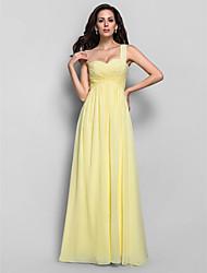 Formal Evening/Prom/Military Ball Dress - Daffodil Plus Sizes Sheath/Column One Shoulder Floor-length Chiffon