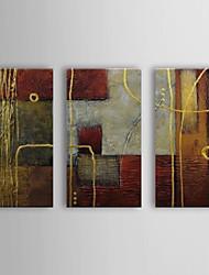 Pintados à mão Abstrato 3 Painéis Tela Pintura a Óleo For Decoração para casa