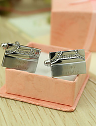 Groom Groomsman Zinc Alloy Cufflinks & Tie Clips Wedding Anniversary Birthday Business