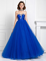 Prom / Formal Evening / Quinceanera / Sweet 16 Dress - Royal Blue Plus Sizes / Petite Princess / Ball Gown Sweetheart Floor-lengthTulle /