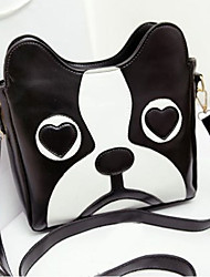 Moda dos desenhos animados bonitos do cão Cabeça Padrão Crossbody Bag