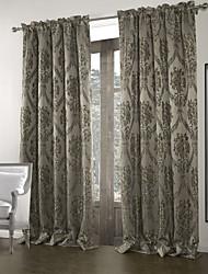 (Un panel) vendimia jacquard gris oscuro cortina del apagón