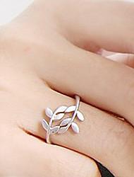 Vintage Leaf Pattern Simple Ring