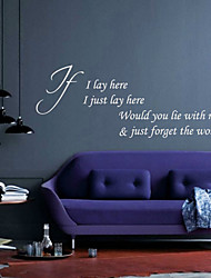 Would You Lie with Me Wall Stickers