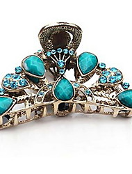 Elegant Alloy Jaw Clip With Rhinestone For Casual Occasion