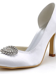 Elegant Bridal Satin Pumps with Rhinestone  Wedding Shoes(More Colors)