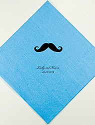 Personalized Wedding Napkins Mustache(More Colors)-Set of 100