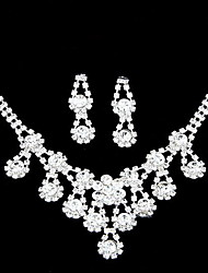 Amazing Alloy With Clear Rhinestone Wedding Bridal Jewelry Set(Including Necklace,Earrings)