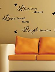 Смеяться каждый день Наклейки Слова Стена