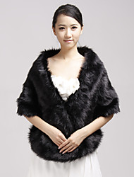 Fur Wraps / Wedding  Wraps Shawls Faux Fur Black Party/Evening / Casual