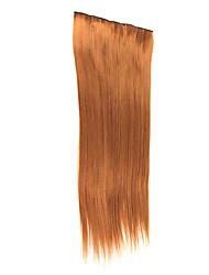 "20 ""Straight Hair Extensions mit Clips Hellbraun"