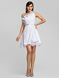 A-line One Shoulder Short/Mini Chiffon Cocktail Dress (631273)