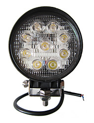 27W 9 LEDs Round Work Light