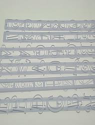 Numéro et la lettre Forme volantée Coupeur gaufrage de pâte de gomme Mold Set de 6 pièces