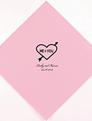 Personalized Wedding Napkins Heart and Arrow(More Colors)-Set of 100