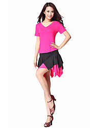 Dancewear Cotton Latin Dance V-neck Top For Ladies(More Colors)