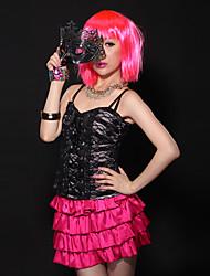 Shiny 40 centimetri parrucca del partito corto rosa