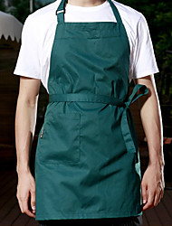 Beige / Blue / Red / Dark Green 100% Cotton Aprons