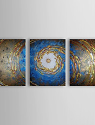 Hand Painted Oil Painting Abstract Spiral with Stretched Frame Set of 3 1309-AB0872