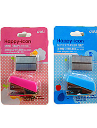Cartoon Portable Stapler Book Sewer with Keychain & Staple Stationary for Home Office(Random Color)