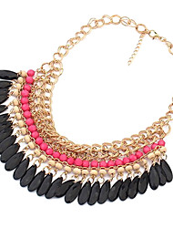 Women's Choker Necklaces Vintage Necklaces Acrylic Alloy Fashion Costume Jewelry Jewelry For Daily