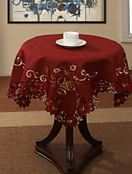Rouge Polyester Carré Nappes de table