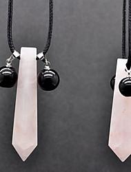 Uzumaki Natural Pink Crystal Cosplay Necklace