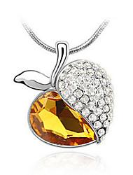 Madou Principessa Donna piena di diamante di Apple di cuore pendente di cristallo (Champagne)
