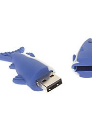 2GB di gomma molle Shark USB Flash Drive