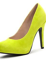 Damenschuhe - High Heels - Kleid - Wildleder - Stöckelabsatz - Absätze - Schwarz / Grün / Rot