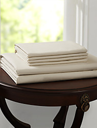"Simple&Opulence® Fitted sheet, 500 TC 100% Cotton Solid Up to 15"" Deep Beige"