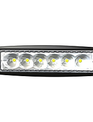 6 LEDs 18W Rectangle Work Light