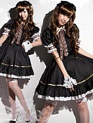 Cute Girl Preto Spandex Maid Uniform