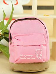 Mini School Bag Coin Purse(Pink)
