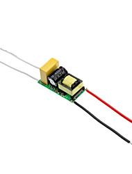 3x1W LED courant constant pilote de source d'alimentation (90-260V)