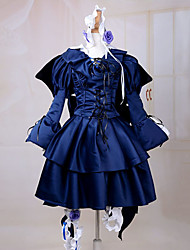 Inspired by Pandora Hearts Alice Anime Cosplay Costumes Cosplay Suits / Dresses Solid Blue Long SleeveDress / Headband / Gloves / Wings /