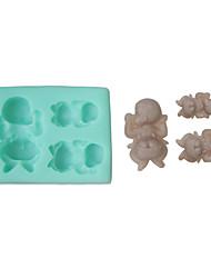dormir determinado del bebé de 3 moldes de silicona (color al azar)