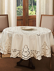 Round Embroidery Polyester Table Cloth