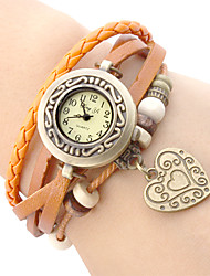 Women's Watch Bohemian Beaded Band With Heart Pendent