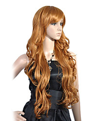 Capless High Quality Synthetic Long Wavy Golden Blonde Hair Wigs