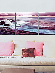 Leinwand Kunst Landschaft Sea Wave 3er Set