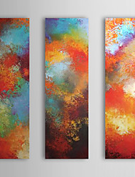 Hand Painted Oil Painting Abstract Passion with Stretched Frame Set of 3 1309-AB0961