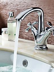 saupoudrer ® par LightInTheBox - chrome finition contemporaine mélangeurs évier salle de bains robinet